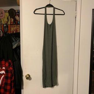 Boohoo Green Halter Midi Dress S NWOT